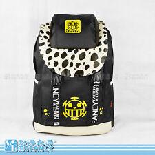 Anime ONE PIECE Trafalgar LAW skull pattern preppy Oxford students bag backpack