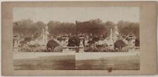 Original 1870er J. Stereofoto PARIS, Jardin du Luxembourg