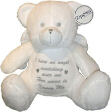 Personalised Memory Teddy Bear Angel Fairy Gift Nan Grandad Mum Dad Sister