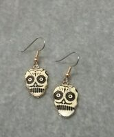 Dia de los muertos sugar skull earrings
