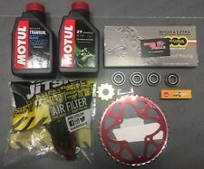 Beta Evo Trials service kit 2 Motul Oil filter Wheel Bearings Chain Sprockets