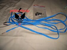 nike shoelaces royal blue gold sparkle metal tip basketball oval