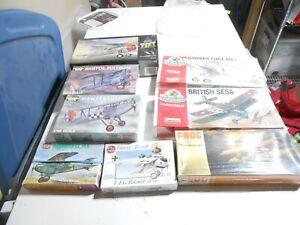 5 - 1/48 Scale Golden Age Biplanes & 3 - 1/72 Scale WW1 Biplanes