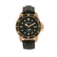 73092b0cc Heritor Automatic Lucius Men's Pro Diver Leather Rose Gold Watch w/ Date  HR7811