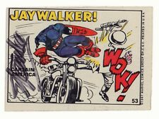 Marvel Super Heroes Sticker Set Card #53 Captain America 1967 Signed by Stan Lee