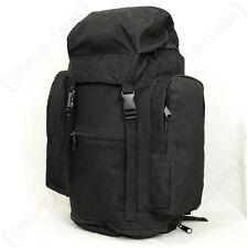 Original British Army Black Rucksack - Surplus Backpack Bag Burgan Military