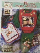 Vintage 1994 Daisy Kingdom No-Sew Fabric Applique Prancer Reindeer Christmas