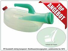 Urinflasche URSEC für Frauen, 1 Liter,milchig, mit Rückflusssicherung
