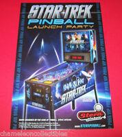 STAR TREK PINBALL LAUNCH PARTY By STERN 2013 ORIGINAL PINBALL MACHINE EXPO CARD