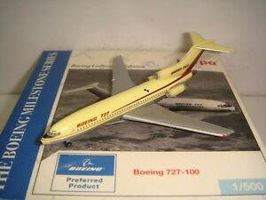 """Herpa Wings 500 Boeing Aircraft Company B727-100 """"1960s House Color"""" 1:500 NG"""