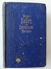 HISTORY OF EGYPT AND TEMPLES AND MONUMENTS BY M RUSSELL 1853 10th edition