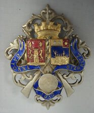 Broche émaillée - BIARRITZ BAYONNE 1912 -