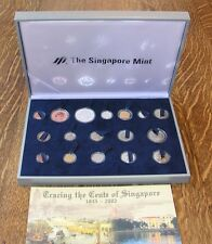 "SINGAPORE  2002  ""TRACING THE CENTS OF SINGAPORE"" COINS, IN ORIGINAL BOX, W/COA!"