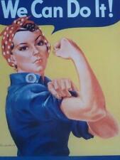 World War II POSTER propaganda WE CAN DO IT!  women factory work emancipation