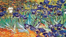 Art Iris Van Gogh Mural Ceramic Bath Backsplash Tile #904