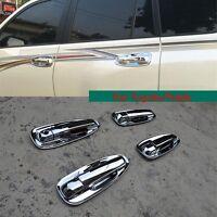 High Quality ABS Chrome Door Handles Bowl Cup Covers Trim for Toyota Prado 10-16