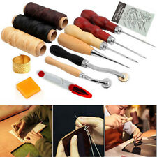 Leather Craft Hand Stitching Sewing Tools Waxed Thread Awl Kit -Sail Tent Canvas
