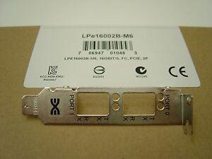 Emulex Low Profile Bracket For LPe32002-M2, LPe16002B-M6, FC, 2P, & LPe12002