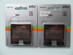 2 x original Braun Scherfolie 383 Scherblatt 5001713 sixtant 8008 5381 5383