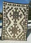 VERY NICE OLD AND LARGE TWO GREY HILLS NAVAJO RUG NR!