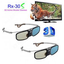 2pcs Active Shutter 3D Glasses Aluminum For BenQ Optoma DLP Link Projector & TV
