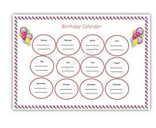A4 BIRTHDAY CALENDAR/ CHART readymade EYFS childminding
