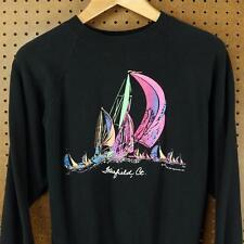 vtg 1991 usa made FAIRFIELD CT raglan sweatshirt LARGE slim 90's vaporwave boxy