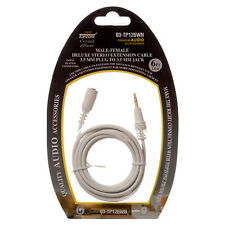 6ft 3.5mm EXTENSION Mini Stereo White Cable Audio Jack Male to Male IPod MP3 AUX