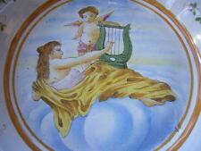 MAJOLIQUE ITALIENNE PLAT SUR PIEDOUCHE  SCENE MYTOLOGIQUE ORPHEE PUTTI