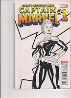 Captain Marvel #1 Sketch Variant Comic Book