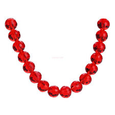 8mm 25pcs Facets Round Faceted Crystal Glass Loose Spacer Beads Necklace Jewelry
