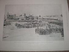 Annexation of Orange Free State raising royal standard Bloemfontein 1900 print