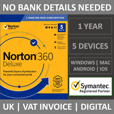Norton 360 Deluxe 2021 5 Devices 1 Year Subscription Internet Security Antivirus