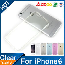 iPhone 6 & 6s transparent silicone case and premium glass screen protector