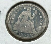 1853 Seated Liberty Dime with Arrows - FINE
