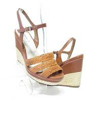 LK BENNETT London Brown Cognac Platform & Wedge Sandals SZ 9 EUR 39