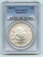 2007 P $1 Jamestown Silver Commemorative Dollar PCGS MS70