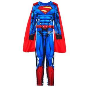 Marvel H&M Adult/Mens Superman Costume Licensed Superhero Fancy Dress Outfit New
