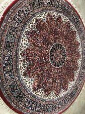 Persian 82� (6'.8) Round Beautyful Design Handmade Knotted Fine Wool Rug