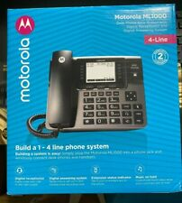 Motorola ML1000 DECT 6.0  4-line + Voicemail, Receptionist, expand to 10 phones