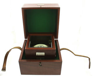 Original Wempe Hamburg Marine- Chronometer Schiffschronometer Auf-Ab B-Uhr ~1960