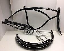 "1963 Schwinn Typhoon Men's Frameset Black Fenders 26"" Middleweight"