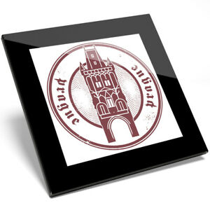 1 x Prague Czech Republic Vinyl Glass Coaster - Kitchen Student Gift #6094