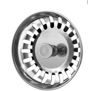 Kitchen Sink Strainer Replacement Basin Drain Filter Steel UK