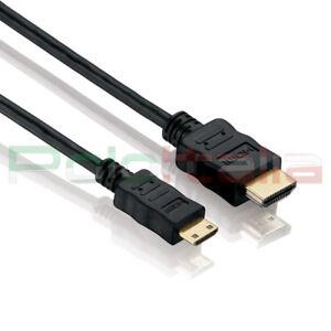Cavo 1m da HDMI A MINI tipo C 1.4 3d 4k Full hd tv pc adattatore audio video av