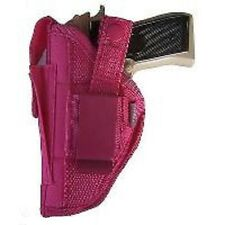Glock 26,27,28,39 Pink Nylon Belt Side & Clip on Gun holster With Magazine Pouch