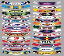 GO KART VISOR STICKER, Tonykart CRG Kosmic Bell OTK Arai Arrow Senna F1 monster