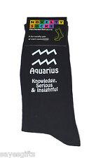 AQUARIUS STAR SIGN con significati Nero Da Uomo Calzini gennaio e febbraio compleanni