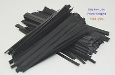 "1000 pcs new uline black 4"" plastic twist ties gift ties cable ties - s-566bl"