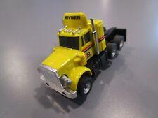 Vintage Aurora Afx Peterbilt Semi Truck Ryder Yellow